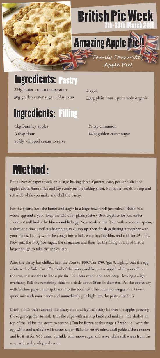 Apple Pie British Pie Week Recipe