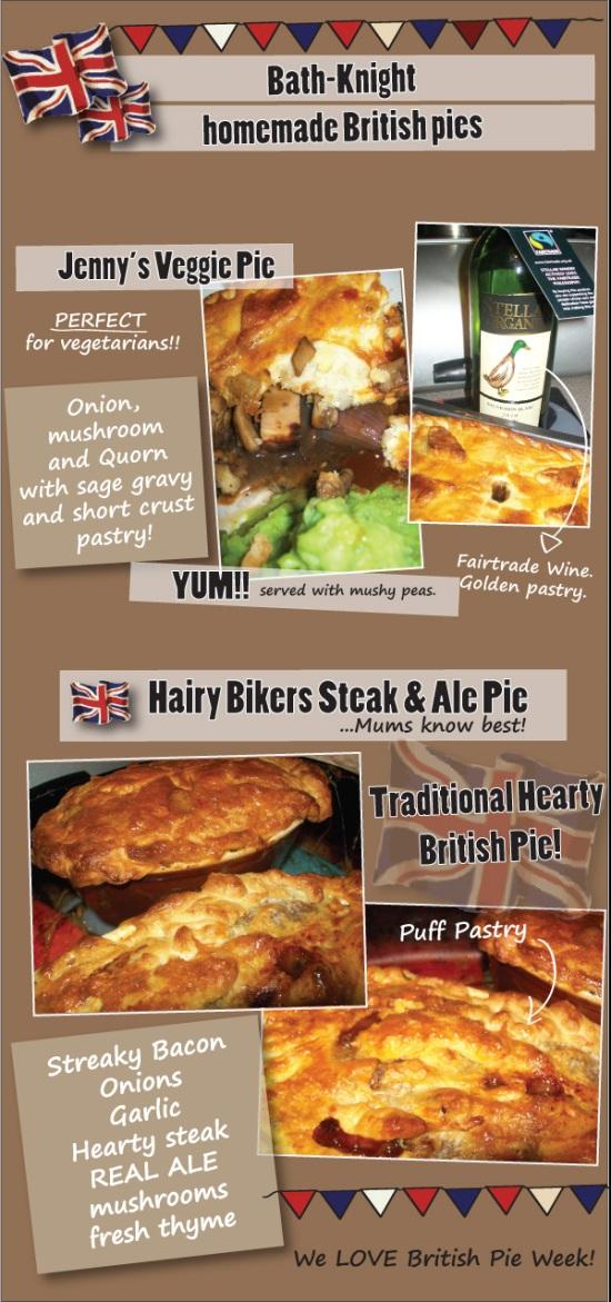 british Pie week Mum knows best steak and ale pie veggie quorn pie