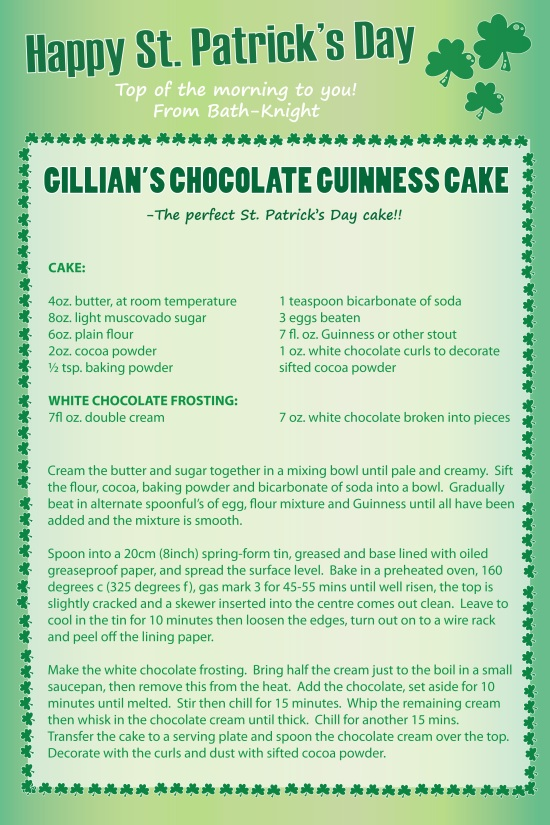 guinness chocolate cake recipe st patricks day