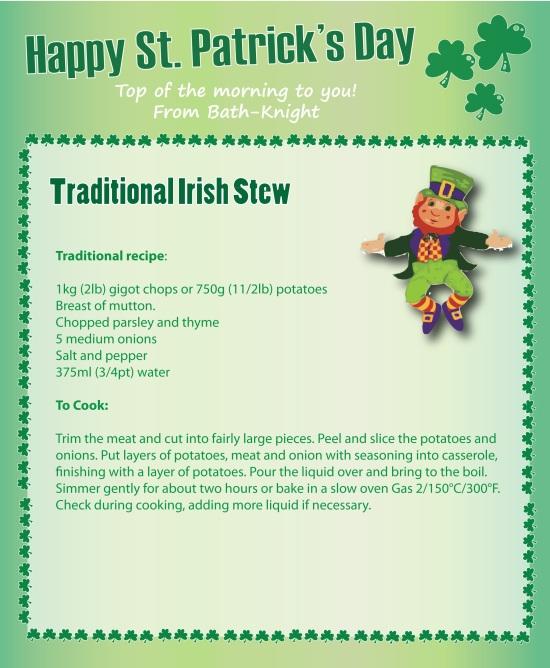 Traditional Irish Stew St Patricks Day Recipes