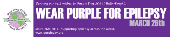 purple day, supporting epilepsy awareness, epliepsy, cassidy Megan,