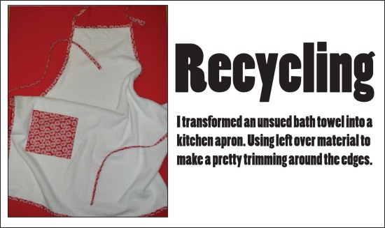 recycling creative recycling apron