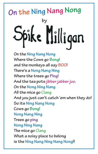 spike milligan on the ning nang nong childrens poems