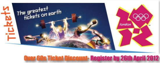 London 2012 Olympic games ticket discount elderly