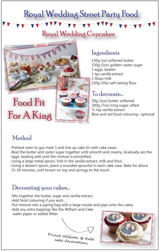 royal wedding cupcake recipe