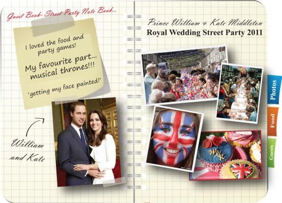 royal Wedding guest Book