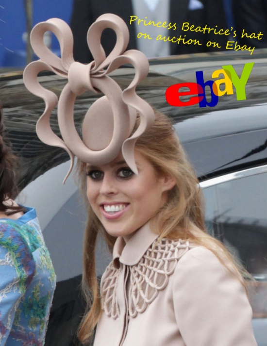 Princess Beatrice hat on Ebay