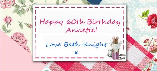 Happy Birthday Annette patchwork