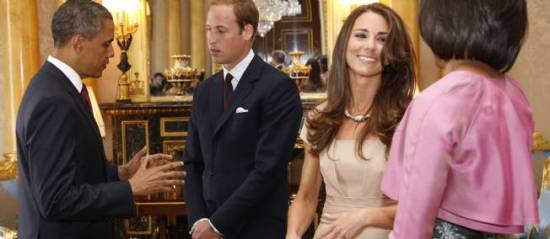 Kate and William with the Obamas