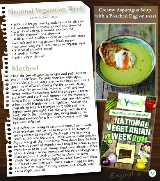 National Vegetarian Week Aparagus Soup