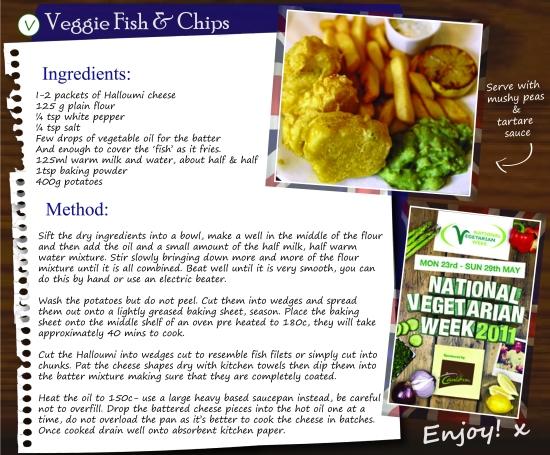 Vegetarian Fish and Chip recipe