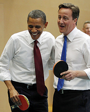 obama cameron table tennis