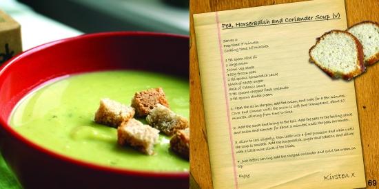pea horseradish and coriander soup  recipe
