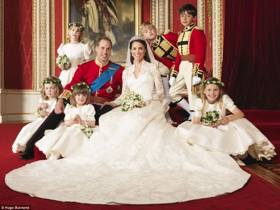 Official Royal Wedding Photo William Kate bridesmaids and Pageboys