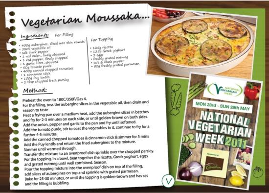 Vegetable Moussaka Recipe National Vegetarian Week