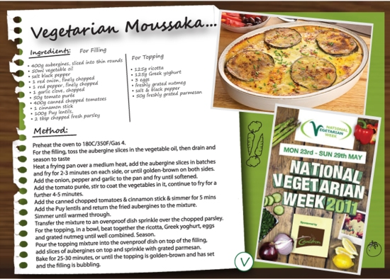 Vegetable Moussaka Recipe National Vegetarian Week