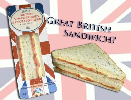 strawberry and cream sandwich Tesco