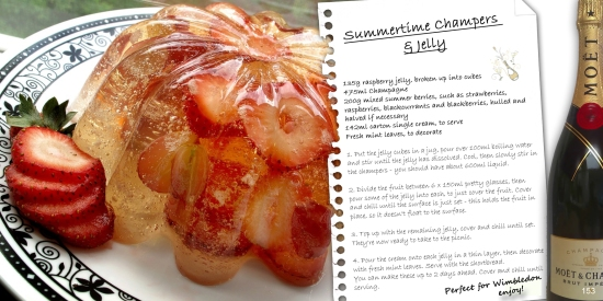 summertime champers and jelly recipe