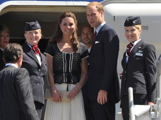Royal Tour duch and duchess of cambridge fly home on BA flight