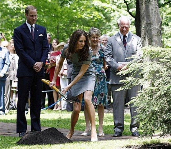 Royal Tour tree planting in canada