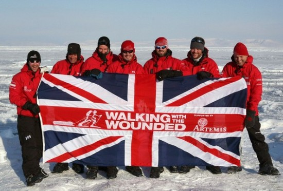 walking with the wounded union jack
