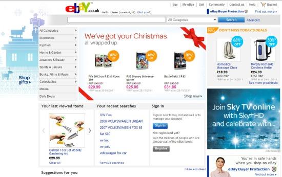 Ebay page