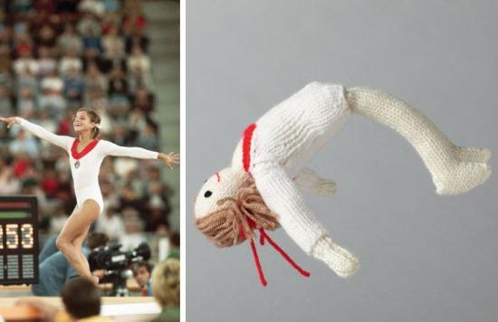 Olga Korbut knitted