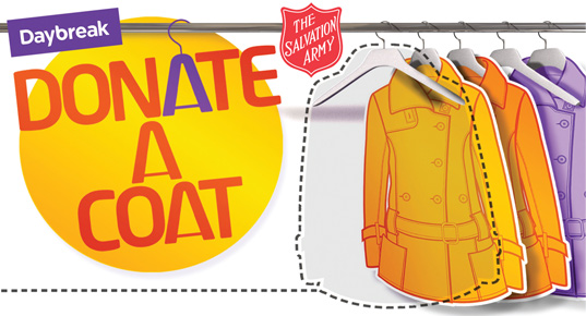 Salvation army donate a coat