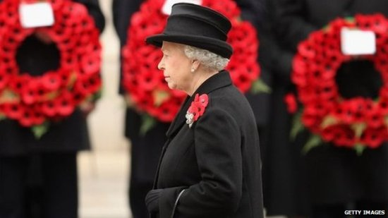 the queen remembrance sunday