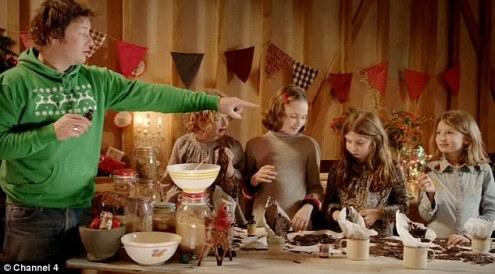 Jamie's Christmas with bells on helpers