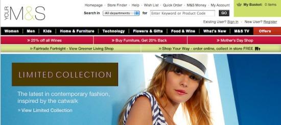 M&S website