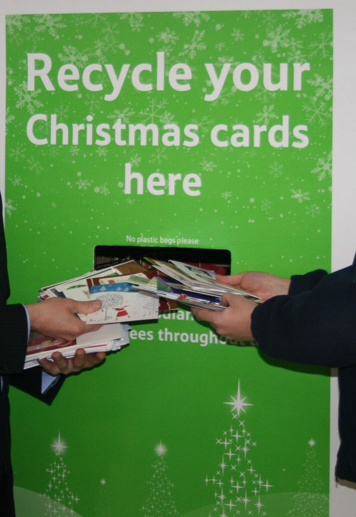 Recycling Christmas cards with Wood Land Trust | Bath-Knight Blog