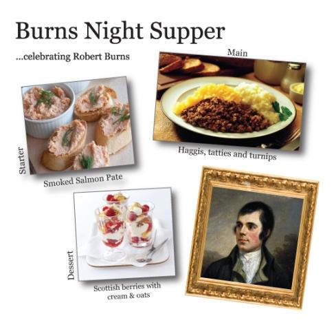 Burns night supper menu