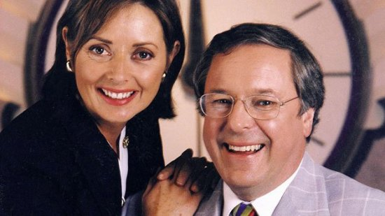 Richard Whiteley and Carol Voderman
