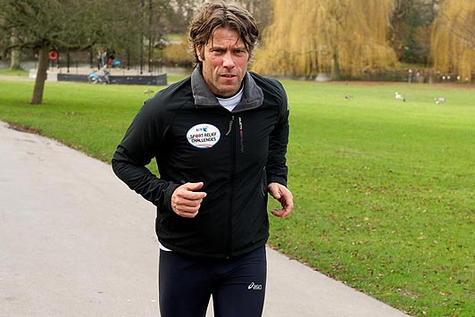 John Bishop in training
