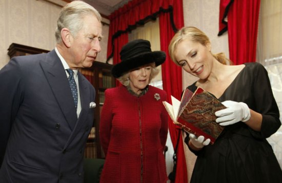 Prince Charles, Duchess of Cornwall and Gillian Anderson