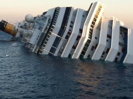 Sunken Costa-Concordia