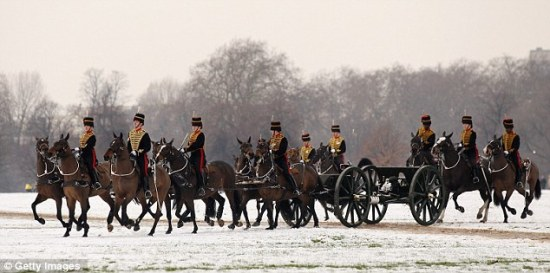 The King's Troop entering Hyde Park Diamond Jubilee