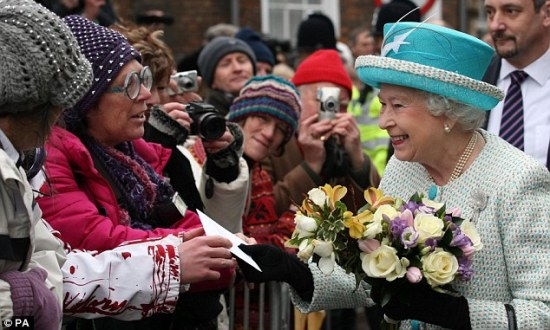 The Queen meeting well wishers accession day