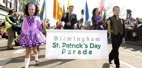 Birmingham St Patricks Day parade