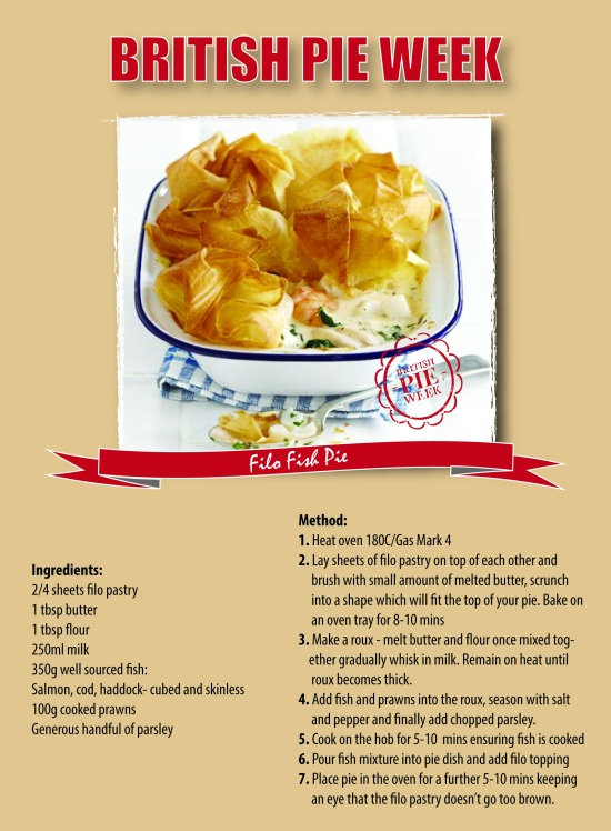 British Pie Week filo fish pie