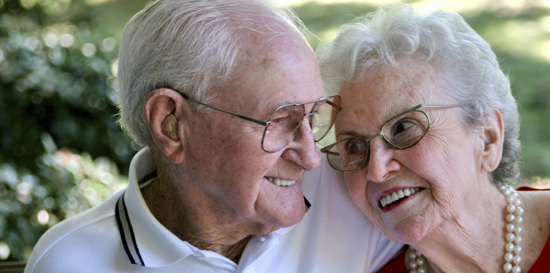 elderly couple living independently