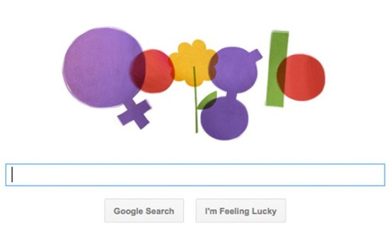 Today's Google Doodle pays homage to International Women's Day