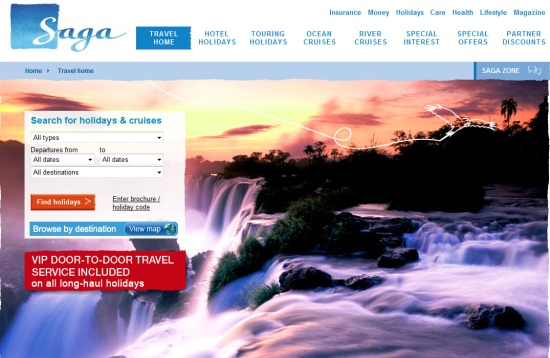 Saga Holidays Website