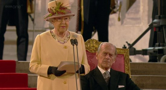 the Queen Addressing Houses of Parliament