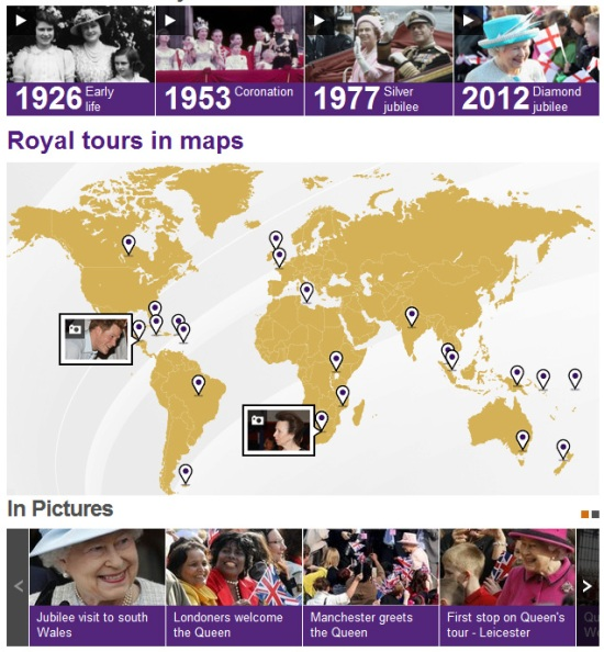 BBC Royal tours in maps