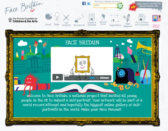 Face Britain homepage