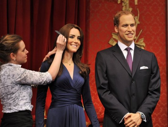 Kate and William waxwork finishing touch