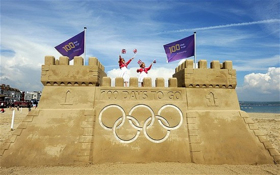 sandcastle_London Olympics 100 days