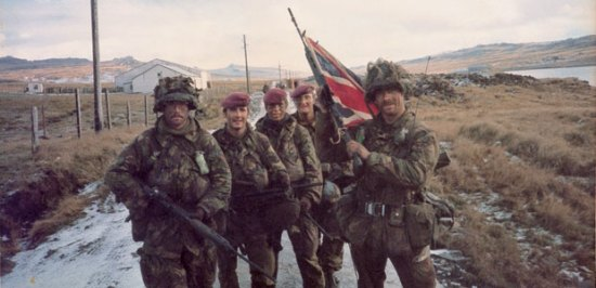 Soldiers in the Falklands